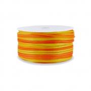 Cordão de Seda Acetinado - Color Mix Laranja - 2mm - 50m