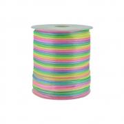 Cordão de Seda Acetinado - Color Mix Neon - 2mm - 100m
