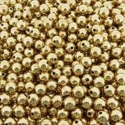 Entremeio Bolinha de ABS  - Dourado - 10mm - 250g