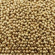 Entremeio Bolinha de ABS  - Dourado - 6mm - 250g