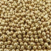 Entremeio Bolinha de ABS  - Dourado - 8mm - 250g