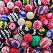 Miçanga Bolinha de Plástico com Crochê - Variado - 100pçs