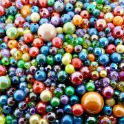 Entremeio Bolinha de Plástico - Variado Irisado - 250g