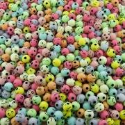 Entremeio Bolinha Emoji de Plástico - Variado Candy - 8mm - 250g
