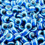 Entremeio Bolinha Olho Grego de Plástico - Azul Royal - 10mm - 100pçs