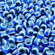 Entremeio Bolinha Olho Grego de Plástico - 8mm - 100pçs