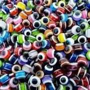 Entremeio Bolinha Olho Grego de Plástico - Variado - 10mm - 100pçs