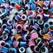 Entremeio Bolinha Olho Grego de Plástico - Variado - 12mm - 100pçs