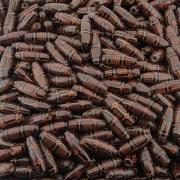 Entremeio Conta de Madeira - 22mm - 100pçs