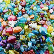 Entremeio Conta de Plástico - Variado Irisado - 250g