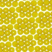 Entremeio Conta de Porcelana - Amarelo - 6mm - 100pçs