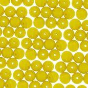 Entremeio Conta de Porcelana - Amarelo - 8mm - 100pçs