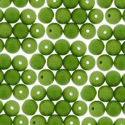 Entremeio Conta de Porcelana - Verde - 8mm - 100pçs