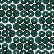 Entremeio Conta de Porcelana - Verde Esmeralda - 8mm - 100pçs