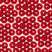 Entremeio Conta de Porcelana - Vermelho - 8mm - 100pçs