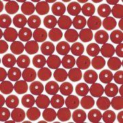 Entremeio Conta de Porcelana - Vermelho Veludo - 6mm - 100pçs