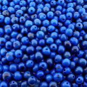 Entremeio Conta de Semente Natural - Açaí - Azul Escuro - 8mm - 1000pçs