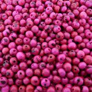 Entremeio Conta de Semente Natural - Açaí - Pink - 8mm - 1000pçs