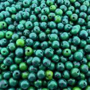 Entremeio Conta de Semente Natural de Açaí - Verde Esmeralda - 8mm - 1000pçs
