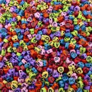Entremeio Coração com Letras de Plástico - Variado - 7mm - 250g