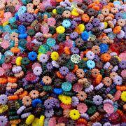 Entremeio Flor de Plástico - Variado - 8mm - 250g