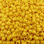 Entremeio Miçangão de Plástico - Amarelo - 8mm - 250g