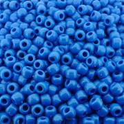 Entremeio Miçangão de Plástico - Azul - 8mm - 250g
