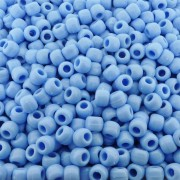Entremeio Miçangão de Plástico - Azul Bebê - 8mm - 250g