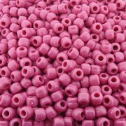 Entremeio Miçangão de Plástico - Rosa - 8mm - 250g
