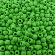 Entremeio Miçangão de Plástico - Verde - 8mm - 250g