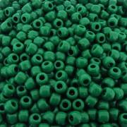 Entremeio Miçangão de Plástico - Verde Bandeira - 8mm - 250g