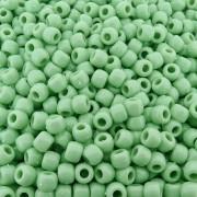 Entremeio Miçangão de Plástico - Verde Bebê - 8mm - 250g