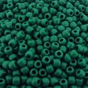 Entremeio Miçangão de Plástico - Verde Esmeralda - 8mm - 250g