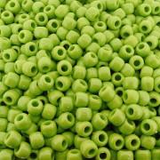 Entremeio Miçangão de Plástico - Verde Lima - 8mm - 250g