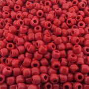 Entremeio Miçangão de Plástico - Vermelho - 8mm - 250g