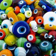 Entremeio Olho Grego de Murano - Variado - 250g