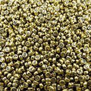Entremeio Pastilha com Letras de ABS - Dourado com Preto - 7mm - 250g