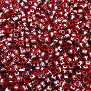 Entremeio Rondelle de Metal - Vermelho - 6mm - 100pçs