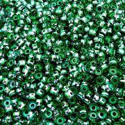 Entremeio Rondelle de Metal - Verde - 6mm - 100pçs