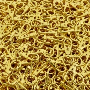 Fecho Mosquetão - Dourado - 32mm - 100pçs