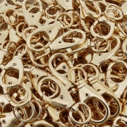 Fecho Mosquetão - Dourado - 48mm - 100pçs