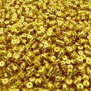 Fecho Rosca - Dourado - 9mm - 100pçs