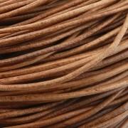 Fio de Couro - Caramelo Fosco - 1.5mm - 10m