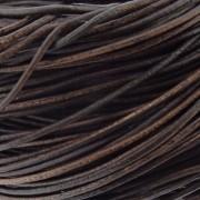 Fio de Couro - Marrom Fosco - 1.5mm - 10m
