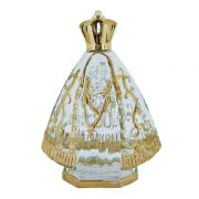 Garrafinha Nossa Senhora Aparecida de Vidro com Dourado - 13cm