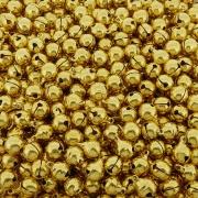 Guizo Bolinha - Dourado - 10mm - 100pçs