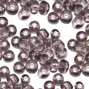Miçanga 6/0 - Ameixa com Prata - 500g
