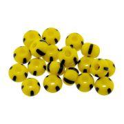 Miçanga 5/0 Jablonex - Amarelo com Preto - 25g