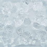 Pingente Anjinho de Acrílico - Transparente - 50mm - 100pçs