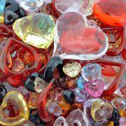 Pingente Coração de Acrílico - Variado - 250g